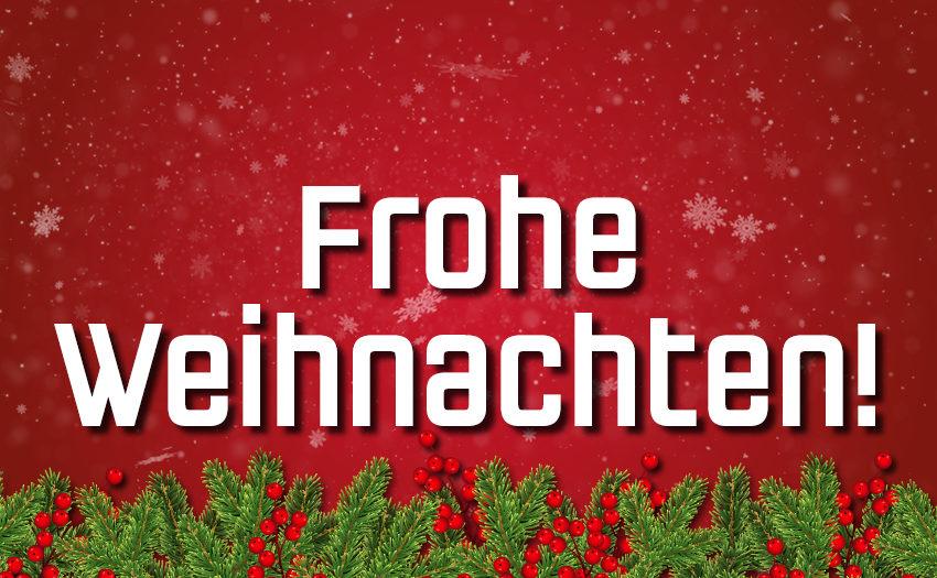 Wir wünschen frohe Weihnachten!
